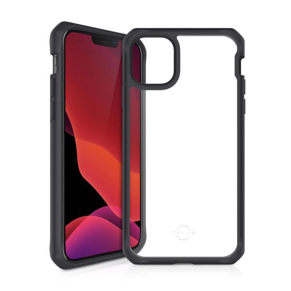 ITSKINS Cover til iPhone 12 og iPhone 12 Pro. Gennemsigtig m. sort kant
