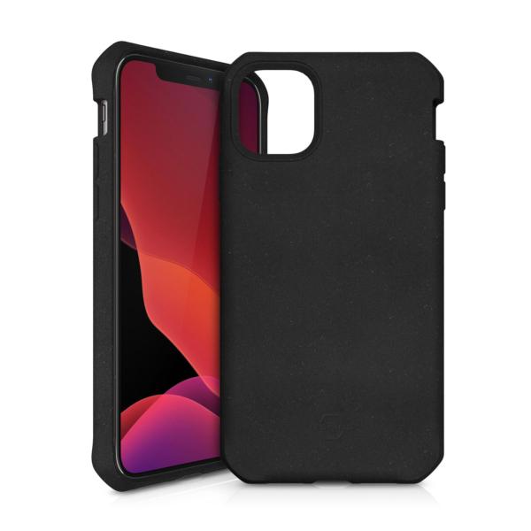ITSKINS FERONIABIO Cover til iPhone 12 og iPhone 12 Pro. Sort