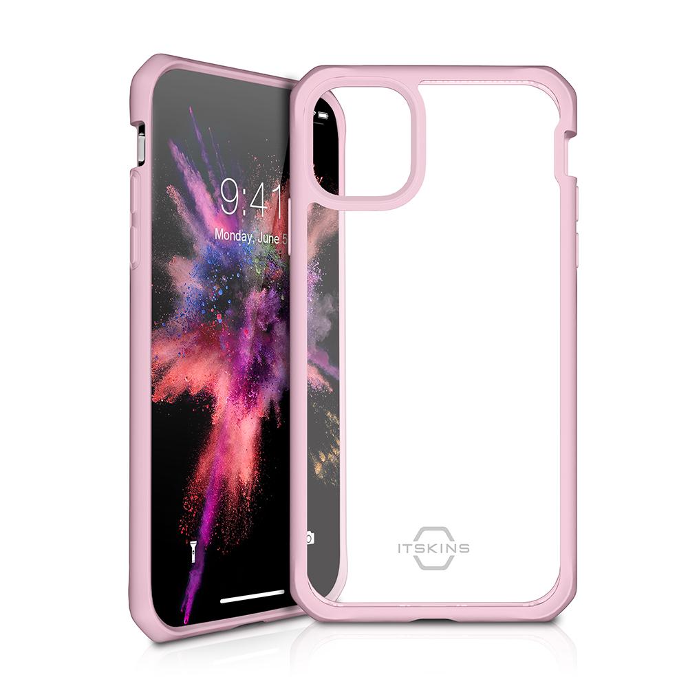 ITSKINS Cover til iPhone 11 Pro. Gennemsigtig m. Pink kant