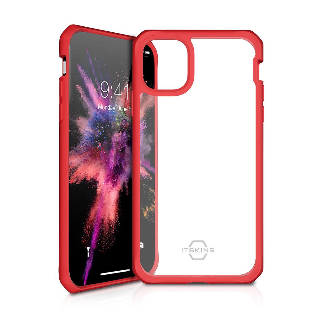 ITSKINS Cover til iPhone 11 Pro. Gennemsigtig m. Rød kant
