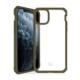 """ITSKINS Cover til iPhone 11 6,1"""". Gennemsigtig m. Army grøn kant"""