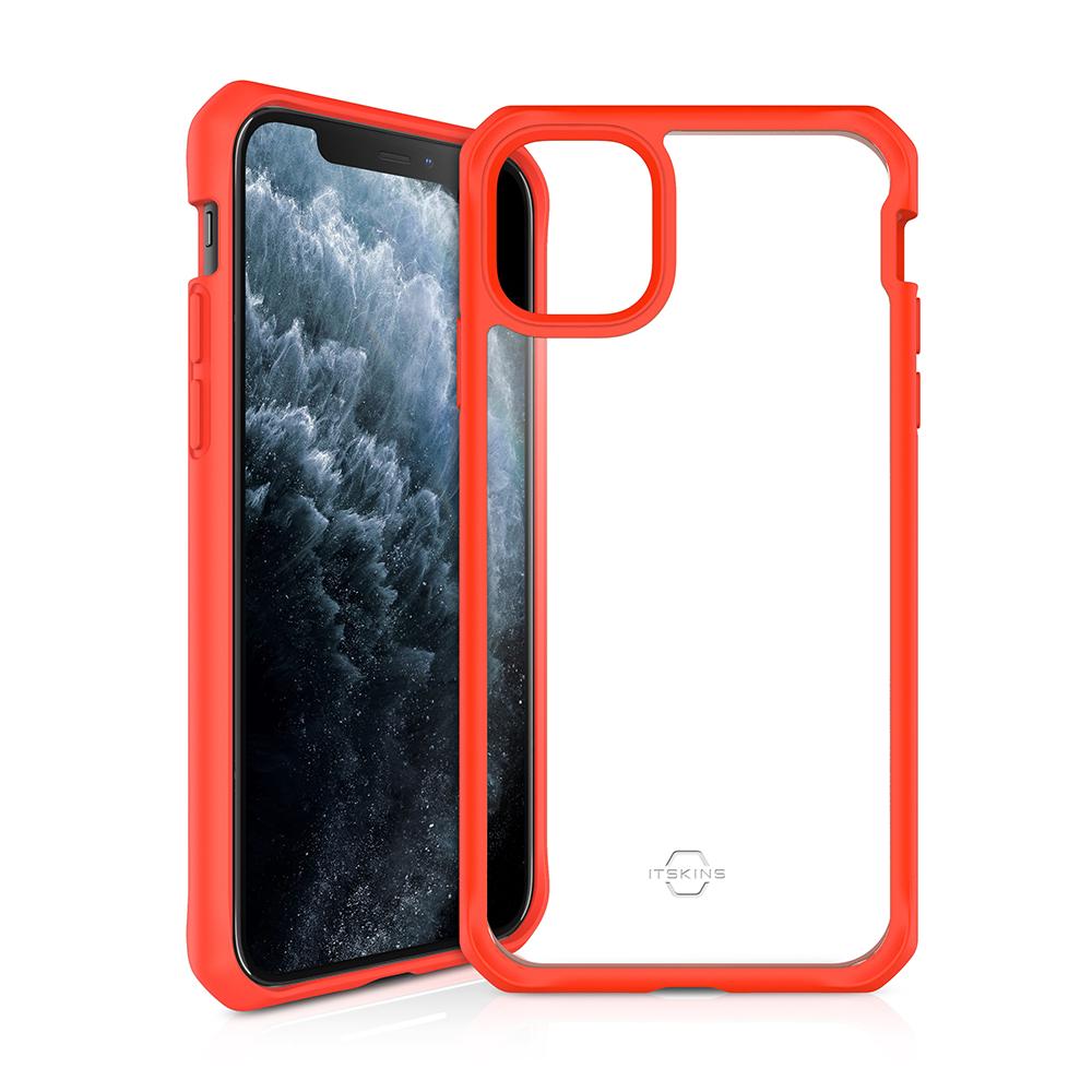 """ITSKINS Cover til iPhone 11 6,1"""". Gennemsigtig m. Orange kant"""