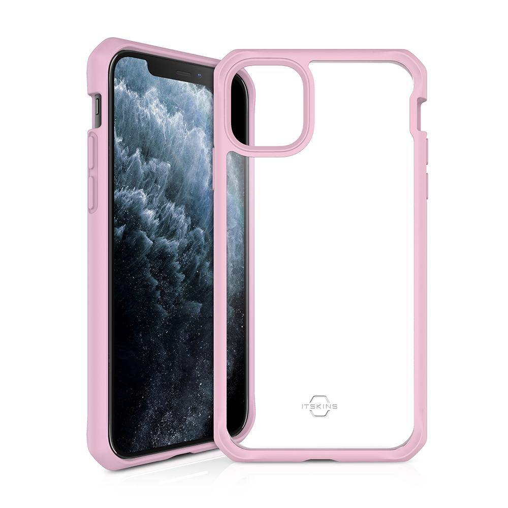 """ITSKINS Cover til iPhone 11 6,1"""". Gennemsigtig m. Pink kant"""