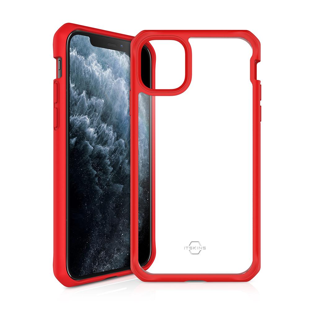 """ITSKINS Cover til iPhone 11 6,1"""". Gennemsigtig m. Rød kant"""