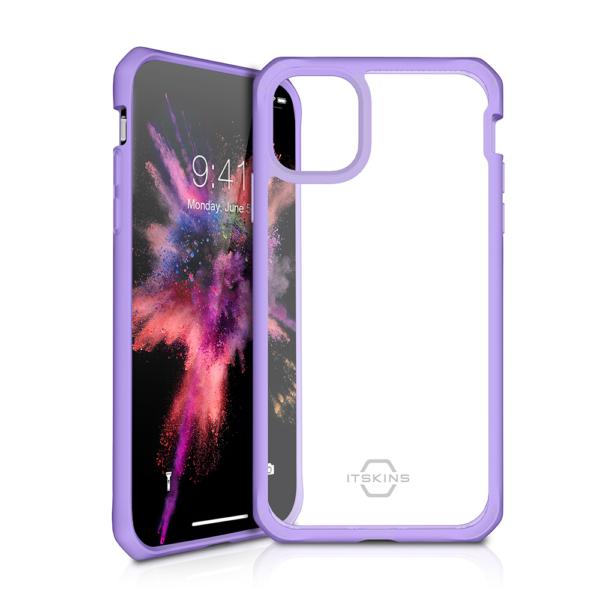ITSKINS Cover til iPhone 11 Pro. Gennemsigtig m. Lilla kant