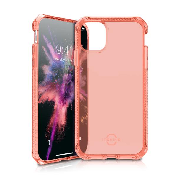 """ITSKINS Cover til iPhone 11 Max 6,5"""". Gennemsigtig Coral Rød"""