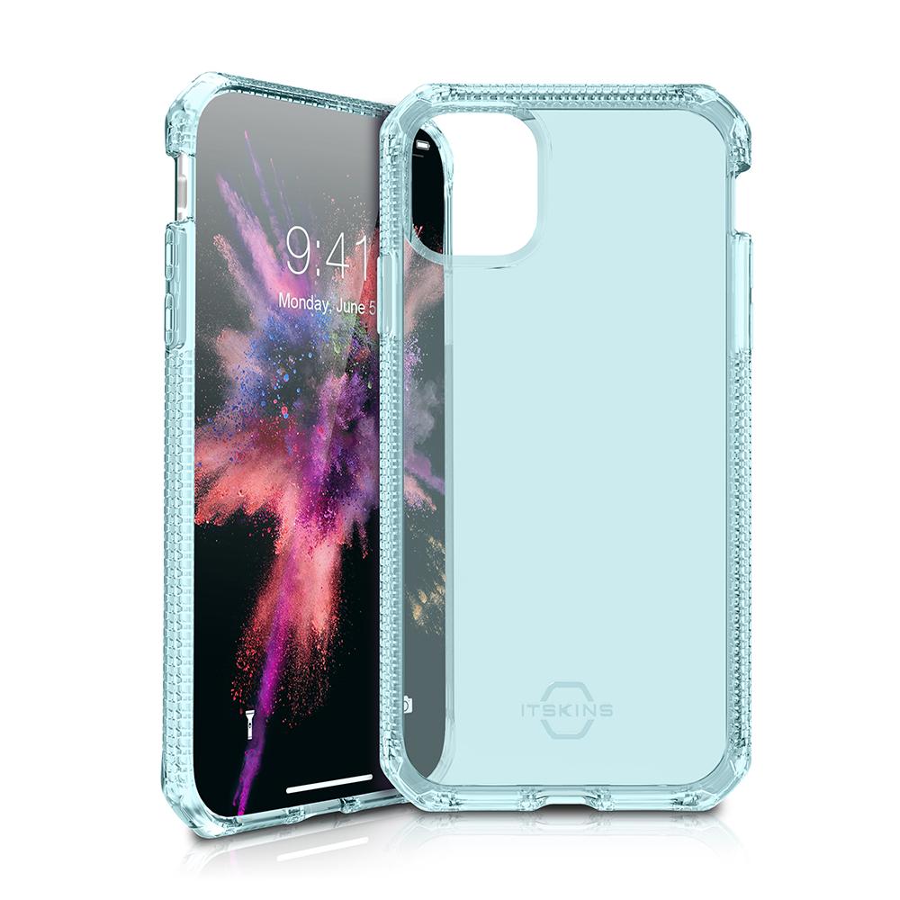 """ITSKINS Cover til iPhone 11 Max 6,5"""". Gennemsigtig Lys Blå"""