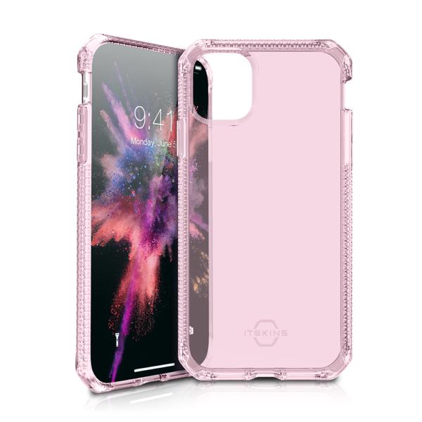 """ITSKINS Cover til iPhone 11 Max 6,5"""". Gennemsigtig Pink"""