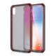 ITSKINS Cover til iPhone XS Max. Gennemsigtig Frost  Grå/Rød