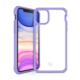 """ITSKINS Cover til iPhone 11 6,1"""". Gennemsigtig m. Lilla kant"""