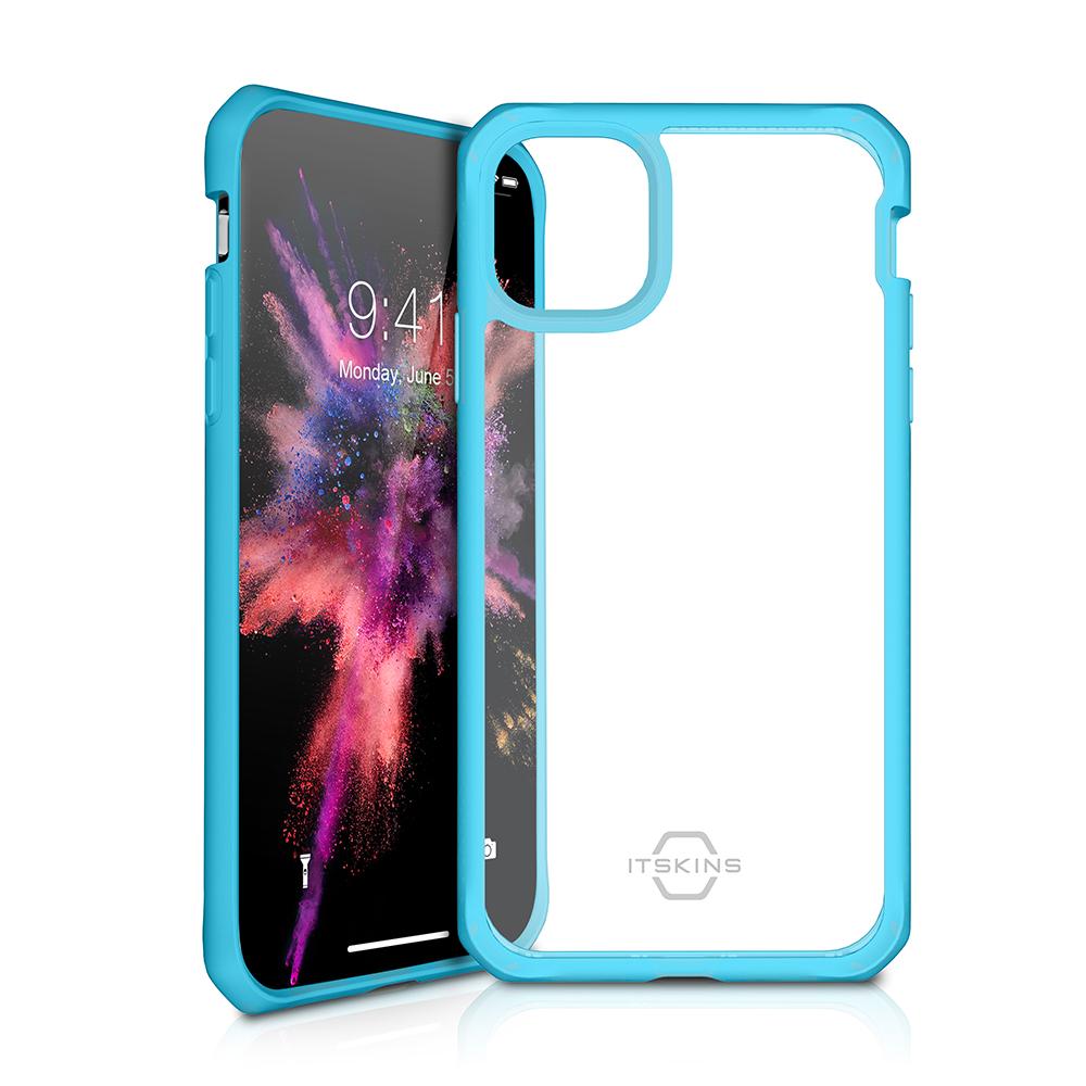 ITSKINS Cover til iPhone 11 Pro. Gennemsigtig m. Blå kant